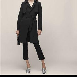 Jackets & Blazers - Black chic light trench side pocket coat